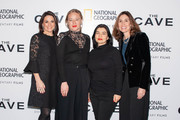 (L-R) President of National Geographic Global Television Networks Courteney Monroe, Producer Kirstine Barfod, Alisar Hassan and Executive Vice President, Global Scripted Content and Documentary films, National Geographic,  Carolyn Bernstein attend The Cave Screening + Q&A at Picturehouse Central on December 04, 2019 in London, England.