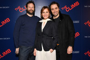 """Kyle Marvin, Judith Godrèche and Michael Angelo Covino attend the screening of """"The Climb"""" at iPic Theater on March 12, 2020 in New York City."""
