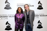 Estelle and GRAMMY Museum Artistic Director Scott Goldman attend The Drop: Estelle at The GRAMMY Museum on December 03, 2018 in Los Angeles, California.