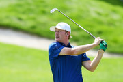 Brandt Snedeker of the United States plays a shot during the final round of The Northern Trust at Liberty National Golf Club on August 11, 2019 in Jersey City, New Jersey.
