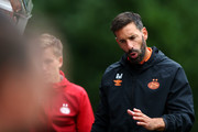U19 PSV Head Coach / Manager, Ruud van Nistelrooy gives his players instructions from the sidelines during The Otten Cup match between PSV Eindhoven and FC Barcelona held at De Herdgang, the training ground & youth academy field of PSV Eindhoven on August 17, 2019 in Eindhoven, Netherlands.