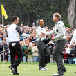 Tiger Woods and Mike Weir Photos