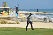 Alvaro Quiros of Spain looks on during day one of the Rocco Forte Open at Verdura Golf and Spa Resort on May 10, 2018 in Sciacca, Italy.