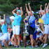 Suzann Pettersen Caroline Hedwall Photos - Suzann Pettersen of Norway, Caroline Hedwall of Sweden (R) and the European Team celebrate as Karine Icher clinched the final match on the 18th green during the afternoon fourball matches for the 2013 Solheim Cup at The Colorado Golf Club on August 17, 2013 in Parker, Colorado. - The Solheim Cup - Day Two