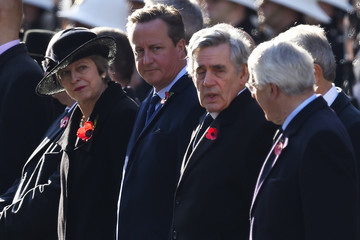 Theresa May Remembrance Sunday Cenotaph Service