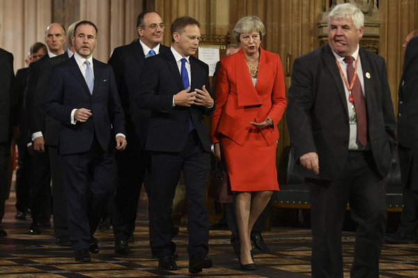 State Opening Of Parliament [event,suit,official,management,government,businessperson,employment,theresa may,grant shapps,mp,3r,plans,britain,conservative,2r,state opening of parliament,talks]