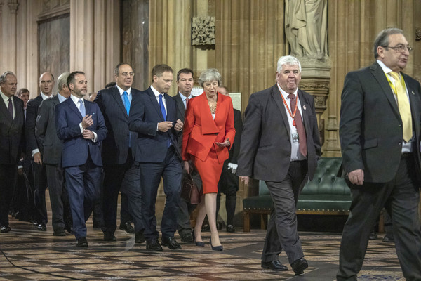 State Opening Of Parliament [laws,event,suit,government,businessperson,official,employment,management,theresa may,queen,grant schapps,plans,england,london,palace of westminster,state opening of parliament,speech]