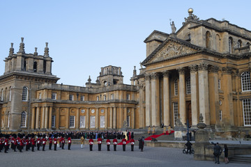 Theresa May Arrival Ceremony At Blenheim Palace For President Donald Trump And The First Lady