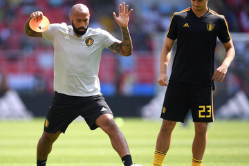 Thierry Henry Belgium vs. Tunisia: Group G - 2018 FIFA World Cup Russia
