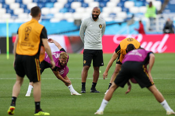 Thierry Henry Belgium Training Session