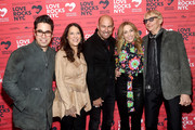 (L-R) Greg Williamson, President & CEO of God's Love We Deliver Karen Pearl, John Varvatos, Sheryl Crow and Will Lee attend the Third Annual Love Rocks NYC Benefit Concert for God's Love We Deliver on March 07, 2019 in New York City.