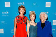 (L-R) Singer Faith Hill, presenter Margaret Alkek Williams and honoree Barbara Bush and President & CEO U.S. Fund for UNICEF Caryl Stern attend the UNICEF Audrey Hepburn Society Ball honoring former first lady Barbara Bush at the Hilton Americas Hotel on November 6, 2015 in Houston, Texas.