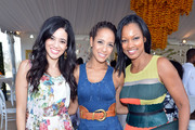 (L-R) Actors Edy Ganem, Dania Ramirez and Garcelle Beauvais attend the Third Annual Veuve Clicquot Polo Classic at Will Rogers State Historic Park on October 6, 2012 in Pacific Palisades, California.