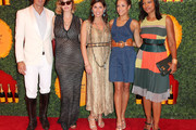 (L-R) Nacho Figueras/host Polo Player and host Defina Blaquier, Vanessa Kay host/President, VC USA, actresses Dania Ramirez and Garcelle Beauvais attend the Third Annual Veuve Clicquot Polo Classic - Los Angeles at Will Rogers State Historic Park on October 6, 2012 in Pacific Palisades, California.