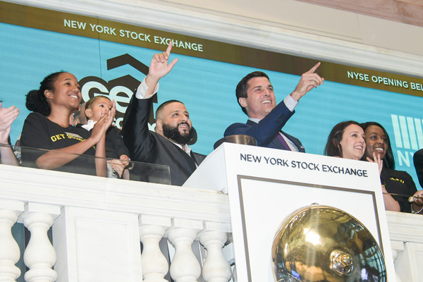 DJ Khaled Visits the New York Stock Exchange Opening Bell to Promote the Get Schooled 'Keys to Success' Campaign [product,yellow,news conference,event,community,team,tourism,personal protective equipment,leisure,fashion accessory,dj khaled,thomas farley,asahd khaled,keys to success,campaign,l-r,bell,opening bell to promote the get schooled,the new york stock exchange,campaign]