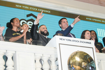 Thomas Farley DJ Khaled Visits the New York Stock Exchange Opening Bell to Promote the Get Schooled 'Keys to Success' Campaign