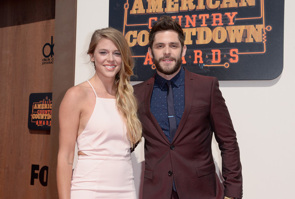 2016 American Country Countdown Awards - Red Carpet [red carpet,premiere,event,fashion,facial hair,suit,carpet,thomas rhett,lauren gregory,american country countdown awards,inglewood,california,l,the forum]