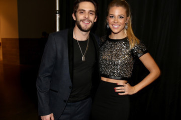 Thomas Rhett Lauren Gregory Backstage at the American Country Countdown Awards