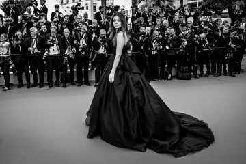 Thylane Blondeau Alternative View In Black & White - The 71st Annual Cannes Film Festival