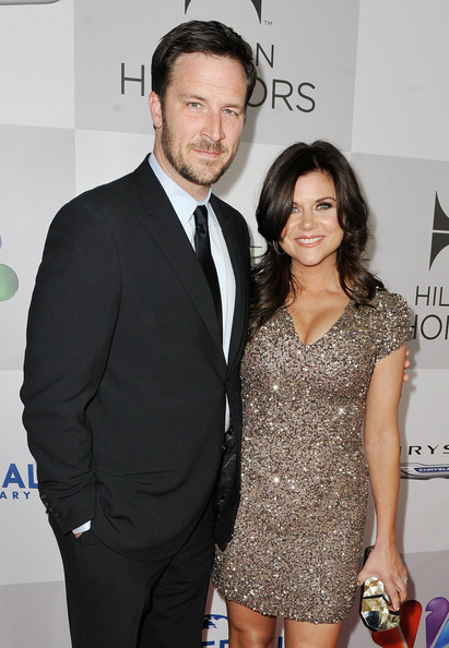 Tiffani Thiessen with cool, attractive, Husband Brady Smith