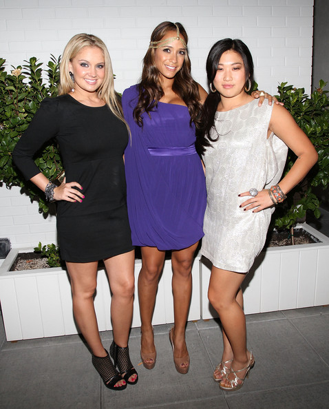Tiffany Thornton Tiffany Thornton, Dania Ramirez and Jenna Ushkowitz attends the Caravan celebration of Fashion's Night Out at Sky Room on September 10, 2010 in New York City.