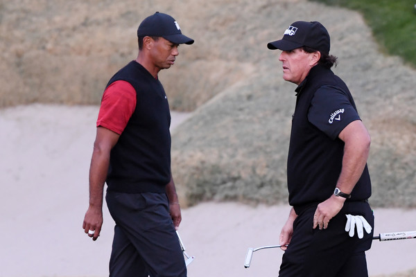 The Match: Tiger vs Phil [golf,recreation,competition event,cap,championship,sports training,competition,fourball,precision sports,tiger woods,phil mickelson,hole,las vegas,nevada,shadow creek golf course,match: tiger vs phil]