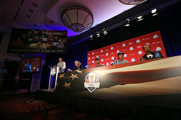 Tiger Woods Phil Mickelson Ryder Cup Team USA Captain's Picks Press Conference