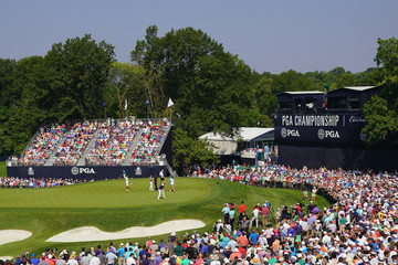 Tiger Woods Rory McIlroy PGA Championship - Round Two