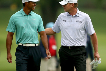 Tiger Woods Steve Stricker The Greenbrier Classic - Round One