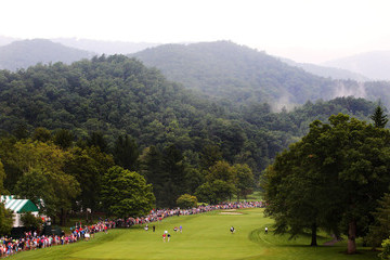 Tiger Woods Steve Stricker The Greenbrier Classic - Round Two