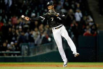 Tim Anderson Los Angeles Angels of Anaheim v Chicago White Sox