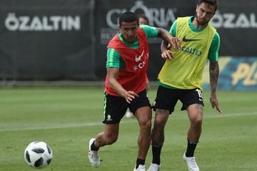 Tim Cahill Australian Socceroos Media Opportunity & Training Session