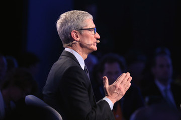 Tim Cook Bloomberg Global Business Forum Held in New York