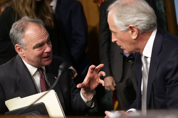 Tim Kaine Senate Confirmation Hearing Held For Rex Tillerson To Become Secretary Of State