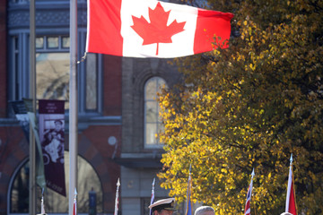 Tim Laurence Canadian Remembrance Day Ceremony