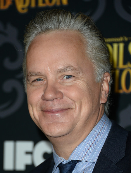 Tim Robbins Actor Tim Robbins laves Club Nokia with a mystery woman in ...