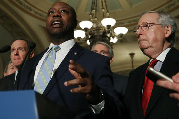 Tim Scott Senate Lawmakers Address the Media After Their Weekly Policy Luncheons
