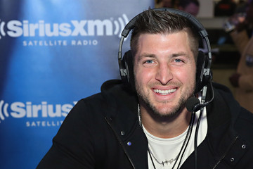 Tim Tebow SiriusXM at Super Bowl 50 Radio Row - Day 1
