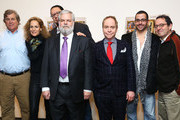 (L-R) Tom Bernard, Farley Ziegler, Penn Jillette, Tim Jenison, Teller,  Michael Barker and Glenn Alai attend the 'Tim's Vermeer' special screening at Museum of Modern Art on January 28, 2014 in New York City.
