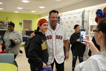 Tim Wakefield MLB And Boston Red Sox Celebrate The World Series With Boston Children's Hospital