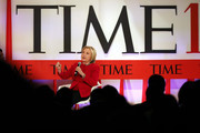 Former U.S. Secretary of State Hillary Clinton speaks at the TIME 100 Summit on April 23, 2019 in New York City. The day-long TIME 100 Summit showcases the annual TIME 100 list of the most influential people in the world.