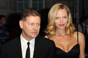 Andrew Niccol and Rachel Roberts attend the UK Premiere for 'In Time' at The Curzon Mayfair on October 31, 2011 in London, England.