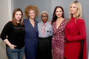 "(L-R) Amber Tamblyn, Michaela Angela Davis, Cynthia Erivo, Ashley Judd and Mira Sorvino attend ""Time's Up"" during the 2018 Tribeca Film Festival at Spring Studios on April 28, 2018 in New York City."