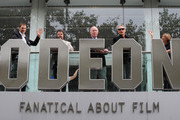 (L-R) David Morrisey, Steven Poliarkoff, Julian Fellows, Julien Temple and Sandra Hebron, The Artistic Director of the BFI, attend the press launch photocall for The Times BFI London Film Festival at Odeon Leicester Square on September 9, 2009 in London, England.