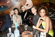 (L-R) Elsa Hosk, Kendall Jenner, Cara Delevingne, Hailey Bieber, and Joan Smalls attend the Times Square Edition Premiere on March 12, 2019 in New York City.