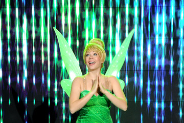Tinkerbell Unveiling Moment At Barneys New York & Disney Electric Holiday Spectacular With Sarah Jessica Parker, Bob Iger, and Mark Lee