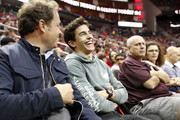 Marc Marquez, five-time MotoGP World Champion and brand ambassador for Tissot, Official Watch and Timekeeper of the Houston Rockets and MotoGP, watches from the stands at the Houston Rockets game against the Phoenix Suns at Toyota Center on April 7, 2019 in Houston, Texas.