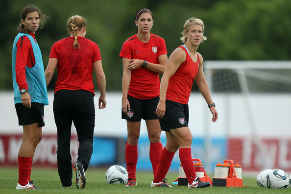 Tobin Heath And Alex Morgan Alex morgan and tobin heath - usa training session - fifa women's world cup