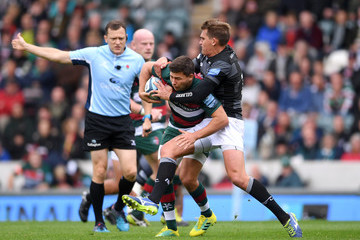 Toby Flood Leicester Tigers vs. Newcastle Falcons - Gallagher Premiership Rugby