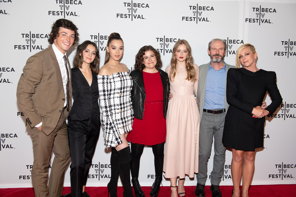 'Dickinson' - 2019 Tribeca TV Festival [event,fashion,premiere,red carpet,carpet,flooring,dress,fashion design,style,adrian enscoe,anna baryshnikov,toby huss,alena smith,hailee steinfeld,ella hunt,l-r,dickinson,tribeca tv festival,screening]